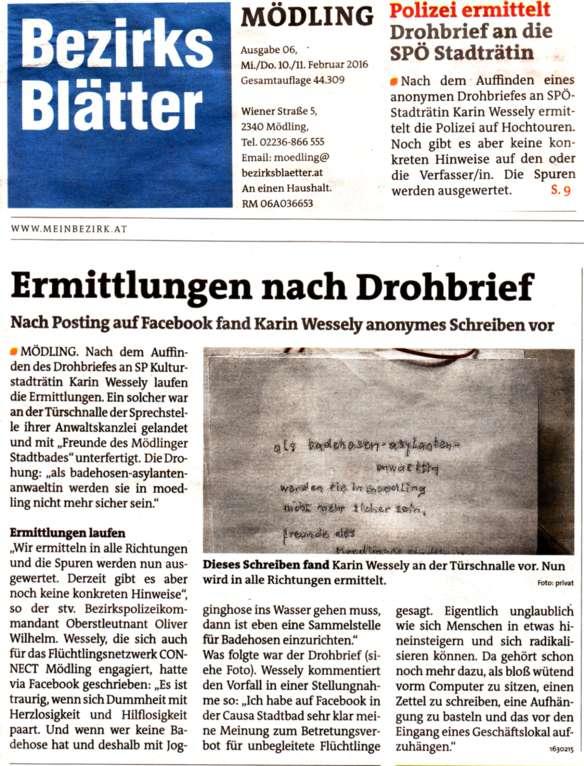 BB 06-2016 Ermittlungen nach Drohbrief