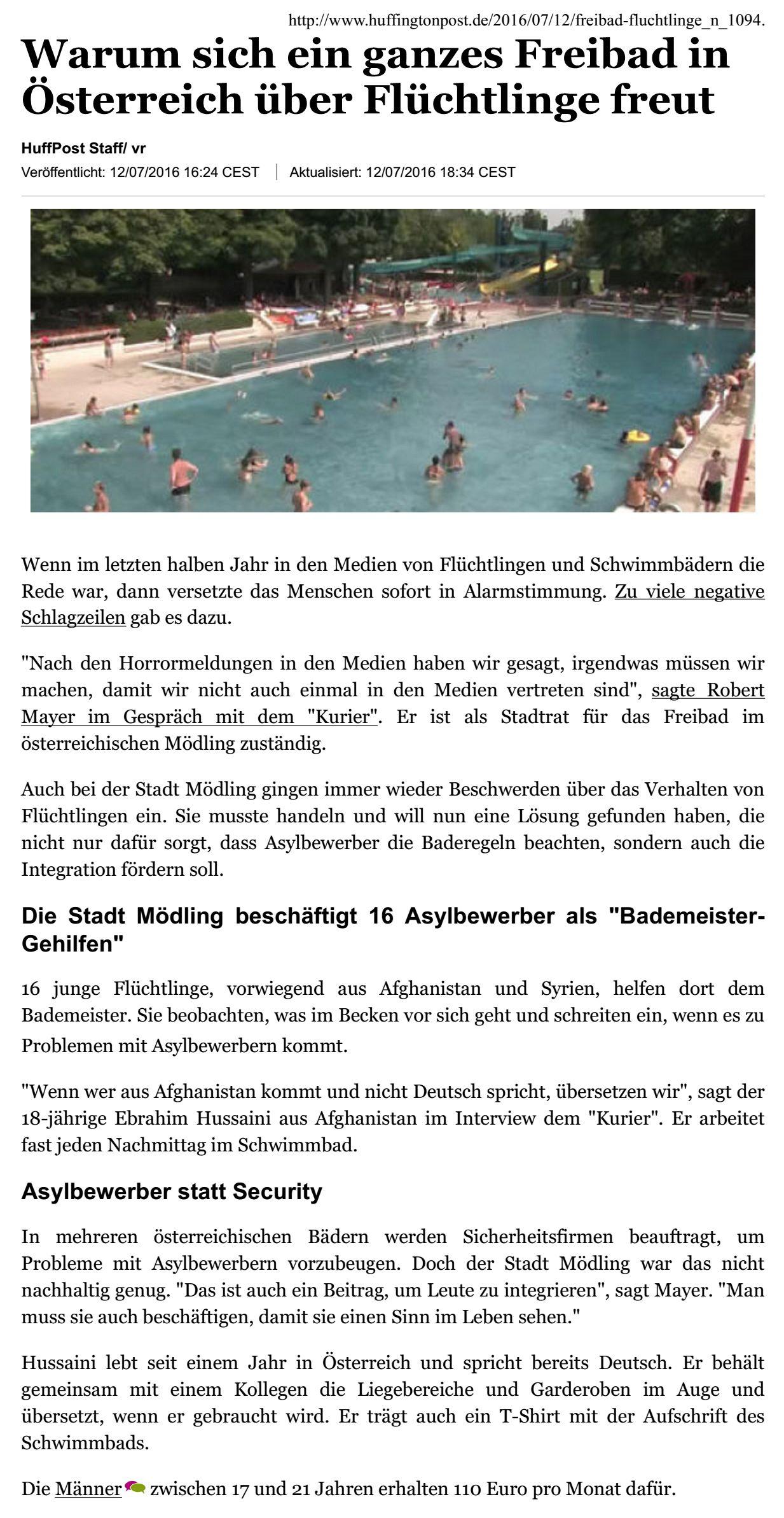 HuffingtonPost_20160712_WarumSichEinGanzesFreibadInOesterreichUeberFluechtlingeFreut