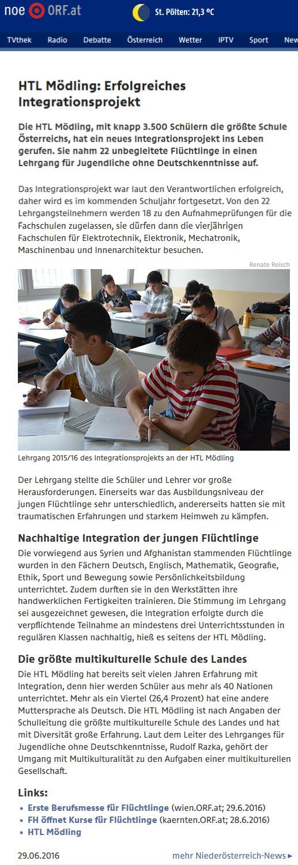 noe.ORF.at_20160629_HTL_Moedling_erfolgreiches_Integrationsprojekt